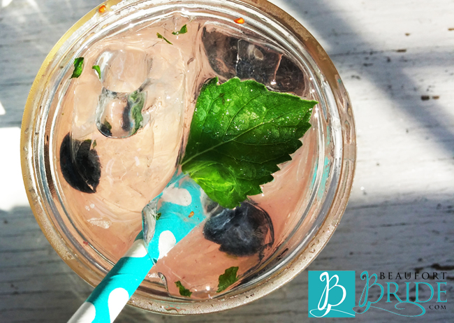 Blueberry Mojito | BeaufortBride.com