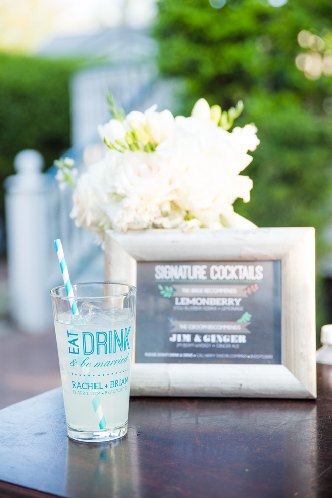 Personalized Glassware Wedding Favor | BeaufortBride.com