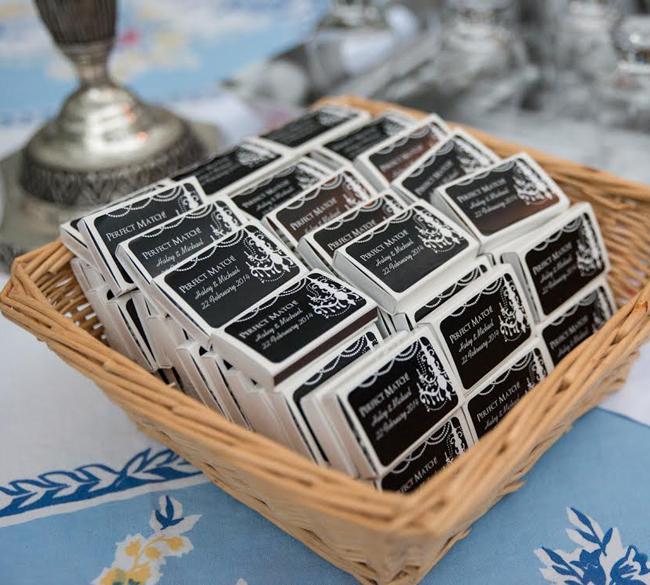 Wedding Favors Matches | BeaufortBride.com