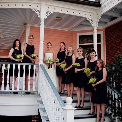 These bridesmaids are getting ready to send their bride offhellip