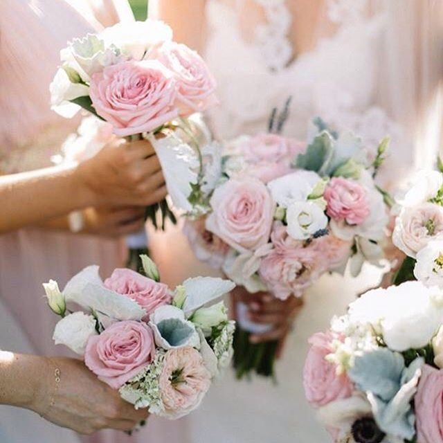 Nothing says love like pastel pink and snow white roses!hellip