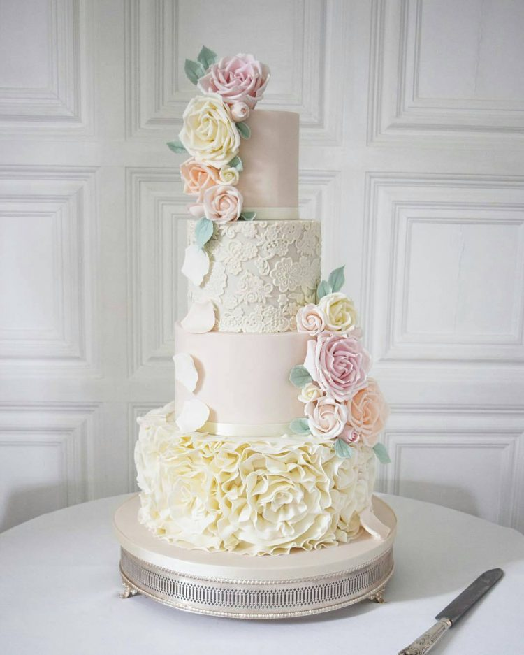 Floral Wedding Cakes   Lowcountry Bride